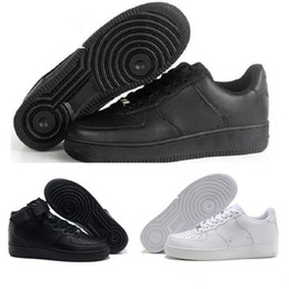 on sale 0e115 350d0 2019 Nike Air Force one 1 Af1 Top qualité Hommes Femmes Flyline Chaussures  de Course Sport Skateboard Ones Chaussures Haute Basse Taille Blanc Noir En  Plein ...