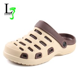 Wholesale Wholesale Work Shoes - 2018 NewComfortable Big Size Mens Beach Sandals Memory Foam Soft Clogs Casual Garden Shoes For Men Slip On Hospital Work Shoes