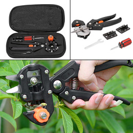 Wholesale Carry Set - Multifunctional Garden Tree Pruning Grafting Scissor Fast Cutting Blades Tools Kit Set With Carry Bag Tools GGA218 5PCS