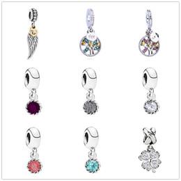 Canada Livraison gratuite mode vie arbre trèfle cercle cristal charmes pendentif charmes fit pandora charmes femmes hommes bricolage bracelet bijoux ZY006 Offre