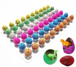 science gifts for children Coupons - 60pcs lot Novelty Gag Toys Children Toys Cute Magic Hatching GrowinAnimal Dinosaur Eggs For Kids Educational Toys Gifts GYH A-660