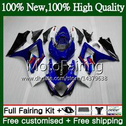 Carenado k7 azul online-Cuerpo K7 para SUZUKI GSXR-1000 K7 GSX-R1000 GSXR 1000 07 08 31MF11 Sotck blue GSXR1000 07 08 Carrocería GSX R1000 2007 2008 Fairing Bodywork