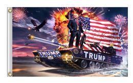 2019 lona da bandeira 90 * 150 cm Donald John Trump Amercia Bandeiras Cabeça De Lona de Poliéster Metal Ilhós Personalidade Decortive Trump Bannerdigital impressão bandeiras Xales lona da bandeira barato