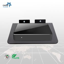 Wholesale Dvd Box Sets - CNXD 2017 New Design DVD TV Box Wall Mount Set Top Box Stand Mount Digital Bracket DVD Router Shelf With Black Glass