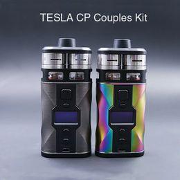 Wholesale Couples Kit - Original Authentic Teslacigs Tesla CP Couples Kit Couple 220w RDTA Vape Kits Dual RDA ECIG DEVICE HUGE CLOUPLE ECIGARETTE KIT
