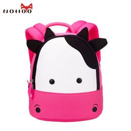Wholesale Cow School Bags - NOHOO New Arrival Animals Kids Baby Bags Waterproof Kindergarten 3D Cow School Bags For Girls Cute Cartoon School