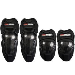 Pastiglie di gomito online-PRO-BIKER Ginocchiere in fibra di carbonio per motociclisti Protezioni per ginocchiere Protezioni per ginocchiere Protezioni per ginocchia Protezioni per ginocchia