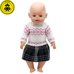 Wholesale Zapf Dolls - Baby Born Doll Clothes 6 Styles Woolen Hand-woven Princess dress Fit 43cm Zapf Baby Born Doll Accessories Birthday Gifts 362