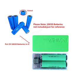 2019 banco de energía para teléfonos celulares Moda 5600 mAh 2X 18650 USB Power Bank Cargador de batería Estuche DIY para iPhone Sumsang SmartPhone Teléfono móvil Precio de fábrica rebajas banco de energía para teléfonos celulares