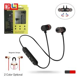 Wholesale Wireless Bluetooth Headset Mic - M9 Magnet Metal Sports Bluetooth Headset V4.2 Stereo Waterproof Sweat-proof Running GYM Sport Earphone With Mic For Mobile Phone Calls