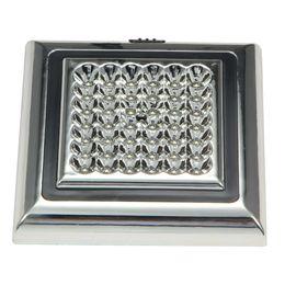 Wholesale Car Roof Interior Light Led - DC 12V 42 LED White Car Vehicle Indoor Roof Ceiling Lamp Interior Dome Light 13.5 x 13.5 x 2.3cm