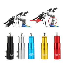 Vástago de aleación online-Aleación de aluminio Piezas de bicicleta Ciclo Cabezas Subir Tubo Ampliar Tenedor frontal Stem Extender Mountain Bike Accesorios Dispositivo de elevación 15qt jj