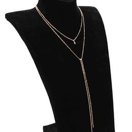 Mode 2018 Nouveau Collier Simple Simple Perles Simples Double Chaîne Longue Clavicule Collier Lady Ventes ? partir de fabricateur