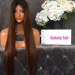 indain human hair Promo Codes - Ombre #1bT30 Full Lace Human Hair Wigs for Black Women Glueless Full Lace Wigs Indain Virgin Hair Straight Lace Front Human Hair Wigs