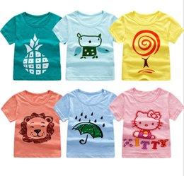 68e0956457886a billige neue babykleidung Rabatt billig Babykleidung Oberseiten-T-Shirts  Die neuen kurzärmeligen zufälligen Karikaturjungen