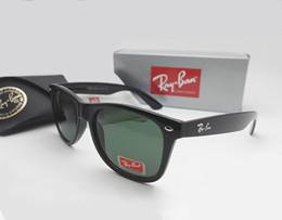 Wholesale Polarized Multi Lens Sunglasses - Hot Sale Ray Aviator Sunglasses Vintage Pilot Brand Sun Glasses Bans UV400 Men Women Ben Mirror 2140 54mm Glass Lenses With Case