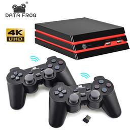 Controlador de arcade sem fio on-line-Dados Sapo HDMI Video Game Console Com 2.4G Controlador Sem Fio 600 Jogos Clássicos Para SEGA / GBA / SNES Família TV Retro Game Console
