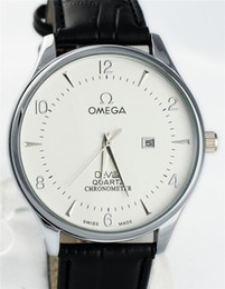 Wholesale Cheap Dress Watches - Brand Luxury Quartz Watch Men Famous Male Clock Leather Sports Watches Business Fashion Casual Dress Wrist Watch Cheap