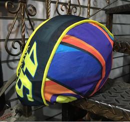 Wholesale Gps Storage - MOTO GP Rossi VR46 large capacity Motorcycle Helmet Cover non-woven drawstring bag travel Storage Racing Helmet dust bag