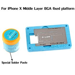 Wholesale Reballing Solder - For iPhone x middle Layer BGA Reballing Fixture Special fixed positioning fixture platform with Special Solder Paste