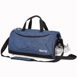 New Gym Bag Waterproof Fitness Sport Bags Travel Handbag Independent Shoes  Storage Duffel Bag Women Exercise Yoga Tote 6952c4372d