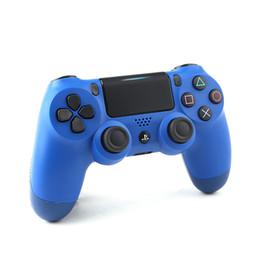 контроллеры playstation ps4 Скидка Для PlayStation 4 PS4 проводной игровой контроллер геймпад Золотой камуфляж джойстик игровой коврик двойной шок USB контроллер консоли не оригинал
