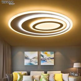 Wholesale Design Dimmer Led - Dimming Led Ceiling Lights remote Control Modern For Living Room Bedroom oval shape 5 sizechose New Design Ceiling Lamp Fixtures