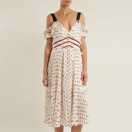 51c957abae676 Discount self portrait dresses - summer sundress 2018 Women V neck off  shoulder Self portrait Midi