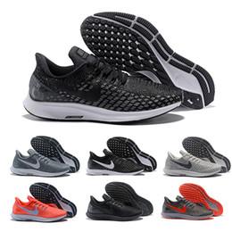 finest selection a7ba7 a15d5 2019 pegasus scarpe Zoom di alta qualità Pegasus 35 uomini scarpe da corsa  nero bianco grigio