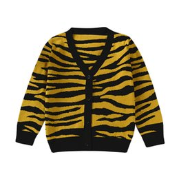 Wholesale cardigan childrens - MUQGEW 2018 Childrens Sweater Single Breasted Leopard Print Baby Girls Boys Cardigan Sweaters Cotton Tiger Print Knitted Girl