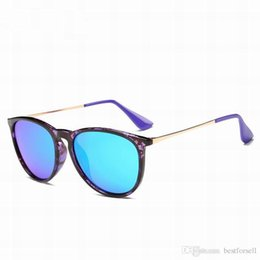 Wholesale Best Brand Sunglasses Men - New Best Round Sunglasses Men Women Brand Designer Glass UV mirrored Fashion Eyewear Sun Glasses Matte Black with cases Sale