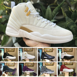 Wholesale Red Sun Rising - 2018 12 12s men basketball shoes white Red Suede Deep Royal Blue rising sun flu game wolf grey TAXI playoff sports sneakers