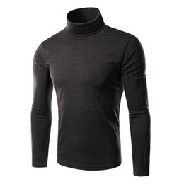 Мужские трикотажные свитера из черепахи онлайн-вязание мужские Мужские свитера водолазка с длинным рукавом Черепаха ролл шеи воронка повседневная тонкий пуловер свитер мужчины для человека топы