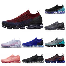 purchase cheap 5d210 929fd Vapormax 2.0 shoes 2019 New Air Cushion Mxamropavs 2.0 Laufschuhe Olympic  Triple Weiß Racer Blau Hot Punch Walking Outdoor Frauen Herren Sport  Turnschuhe ...