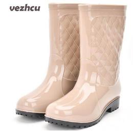 Scarpe invernali da donna Rainning Scarpe da donna alla moda Piattaforme traspiranti Stivali da pioggia impermeabili con tomaia alta Plus Size 36-41 8e13 da