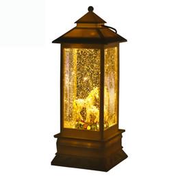 Canada Licorne de style européen en plastique vent lampe Led porte-bougie tournante lanterne à pied cadeau de Noël ensemble décoration Night Light Offre