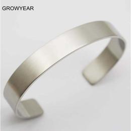 Einfaches manschettenarmband online-Ganzer VerkaufGroßhandelsmasse Unisexleere Metallstulpe-Armband-Armbänder 316L Edelstahl-Ebenen-Silber-Armreifen für Mann-Frauen