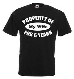 Hochzeitstag geschenke mann online-Eigentums-Frau 6 Jahre T-Shirt, 6. Hochzeitstag-Geschenke für Männer er Ehemann