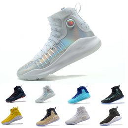 Wholesale Patent Blue Shoes - Cheap Stephen Curry 4 men basketball shoes Gold Championship MVP Finals Sports Sneakers trainers outdoor designer shoes Size 5.5-11
