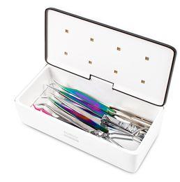 Esterilizador de pestañas falsas Caja de almacenamiento Beauty 8 LED Beads UV Light Máquina de desinfección portátil para herramientas de extensión de pestañas desde fabricantes