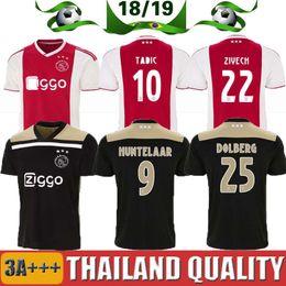 b99ca2d25 New Ajax away Soccer Jerseys 18 19 Ajax away balck Soccer Shirt 2019 TADIC  CRUIJFF KLAASSEN DOLBERG NOURI football uniform Sales sizes S-XL