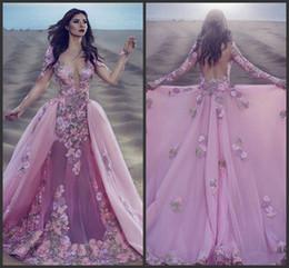 Seksi Bordo Pembe Dantel Uzun Kollu Mermaid Gala Balo Elbise Ayrılabilir Çıkarılabilir Etek Hint Çiçek Balo Abiye Vestios De Novia nereden