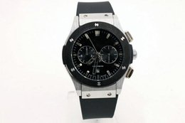 Wholesale Fusion Brands - luxury brand 42mm case man bangwatch Automatic Fusion silver case black dial Watch silicone watch