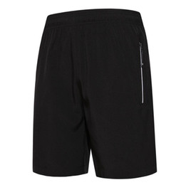 Wholesale Fitness Minutes - The new spring and summer autumn men's fitness running speed dry five minutes summer shorts and sweat breathable reflective striped zipper s