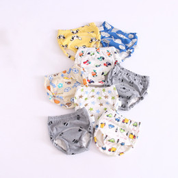 Wholesale toddler cloth nappies - 3pcs  lots Baby Toddler Training Pants 6 Layers Cotton Changing Nappy Infant Washable Cloth Diaper Panties Reusable