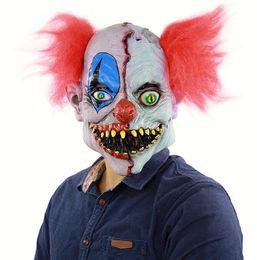 Horror de Halloween Cara podrida Payaso Latex Ghost Mask Cosplay Props Vestir Head Cover Bar Festival Atmósfera Dress Up Wholesale desde fabricantes
