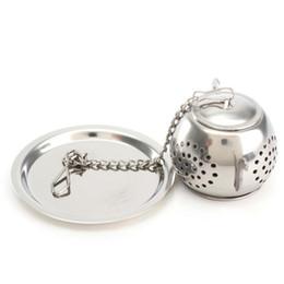 Wholesale korean pendant design - Stainless Steel Teapot Type Tea Infuser Pendant Design Home Office Tea Strainer Creative Tea Accessories wen6871