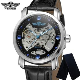 2019 мужчины Winner Automatic Mechanical Mens Watches Skeleton Stainless Steel Man Clock Top  Sport  Male Wristwatch 0388 скидка мужчины