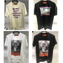T-shirt Preston de la grue à couronne rouge T-shirt écologiste de classe affaires T-shirt Héron Preston de la broderie Éléments interdits T-shirt ? partir de fabricateur