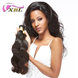 2019 lula capelli umani Fasci di capelli brasiliani di XBL allentati dell'onda corporea Tessuto di vendita caldo vergine Trama non trattata di estensioni dei capelli del Virgin